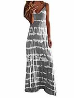cheap -2020 womens dresses casual summer maxi sundress sleeveless v-neck gradient tie-dye loose long dress tank tunic dress (gray, l)