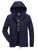 cheap -Men's Hiking Softshell Jacket Hoodie Jacket Hiking Windbreaker Autumn / Fall Spring Summer Outdoor Quick Dry Lightweight Breathable Sweat wicking Jacket Top Hunting Fishing Climbing Military color