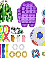 cheap -26 pcs Fidget Sensory Toy Set Stress Relief Toys Autism Anxiety Relief Stress Pop Bubble Fidget Sensory Toy For Kids Adults