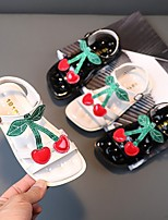cheap -Girls' Sandals Comfort Children's Day Princess Shoes Patent Leather PU Little Kids(4-7ys) Big Kids(7years +) Daily Party & Evening Walking Shoes Buckle White Black Spring Summer