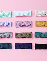 cheap -1pcs Toddler / Infant Unisex Active / Sweet Daily Wear Solid Colored Bow Nylon Hair Accessories Black / Blue / Purple One-Size