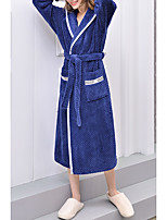 cheap -Women's Lace up Robes Nightwear Solid Colored Black / Blushing Pink / Navy Blue M XL XXL