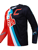 cheap -CAWANFLY Men's Long Sleeve Cycling Jersey Downhill Jersey with Pants Dirt Bike Jersey Winter Black / Red Novelty Funny Bike Tee Tshirt Jersey Top Mountain Bike MTB Road Bike Cycling Quick Dry