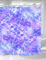 cheap -Purple Lines Digital Printing Shower Curtain Shower Curtains  Hooks Modern Polyester New Design