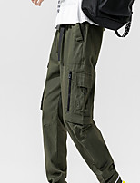 cheap -Men's Work Pants Hiking Cargo Pants Hiking Pants Trousers Summer Outdoor Ripstop Quick Dry Multi Pockets Breathable Cotton Bottoms Army Green Black Work Fishing Climbing M L XL XXL XXXL