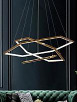 cheap -LED Pendant Light Gold Rings 60 cm Circle Desgin Hexagon Stainless Steel Electroplated LED 110-120V 220-240V