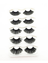cheap -5 Pairs Eyelashes False Eyelashes Criss-cross Natural Fake Lashes Length Makeup 3D Mink Lashes Extension Eyelash Beauty
