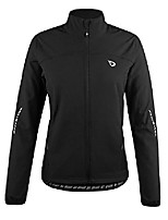 cheap -women's windproof fleece thermal softshell cycling winter jacket black size s
