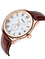 cheap -two-needle half-calendar men's watch student leather sports quartz watch