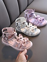 cheap -Girls' Sandals Dress Shoes Comfort Flower Girl Shoes PU Big Kids(7years +) Flower Event / Party Daily Walking Shoes Bowknot Sparkling Glitter Purple Pink Beige Spring Summer / Rubber