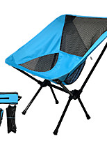 cheap -Camping Chair Multifunctional Portable Breathable Ultra Light (UL) Steel Tube Oxford for 1 person Fishing Beach Camping Autumn / Fall Winter Black Navy Blue Grey Green