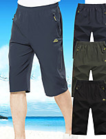 cheap -Men's Hiking Pants Trousers Solid Color Summer Outdoor Regular Fit Quick Dry Breathable High Elasticity Wear Resistance Elastane Bottoms Black Army Green Dark Gray Hunting Fishing Climbing L XL XXL
