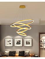 cheap -LED Pendant Light Modern Dimmable 4 Ring Circle Design Gold Aluminum Brushed Nordic Style 110-240 V