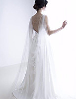cheap -Sleeveless Elegant / Bridal Tulle Wedding / Party / Evening Women's Wrap With Solid