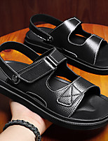 cheap -Men's Sandals Casual Beach Daily Water Shoes Walking Shoes PU Breathable Non-slipping Wear Proof Black Brown Summer