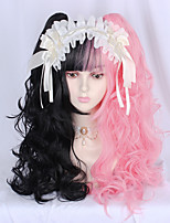 cheap -Black / Pink Lolita Lolita Wig 50 inch Cosplay Wigs Other Wig Halloween Wigs