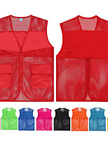 cheap -Women's Men's Hiking Vest / Gilet Fishing Vest Sleeveless Vest / Gilet Jacket Top Outdoor Quick Dry Lightweight Breathable Sweat wicking Autumn / Fall Spring Summer Lake blue Sapphire orange Hunting