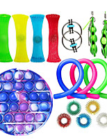 cheap -16 pcs Sensory Fidget Toys Set Bundle-DNA Pop Bubble Soybean Squeeze Stress Relief Balls with Fidget Hand Toys for Kids Adults Calming Toys for ADHD Autism Anxiety Relief