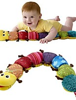 cheap -60cm Children's Soft Stuffed Toys Coffee Color Feet Caterpillars Music Insects Plush Toys with Ringing Paper for Baby 1 pc