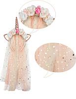 cheap -2019 new unicorn headband fantasy girl net yarn headband princess christmas headwear party headband accessories