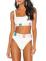 cheap -Women's Tankini Spandex Swimwear Quick Dry Sleeveless 2 Piece - Swimming Surfing Water Sports Stripes Summer