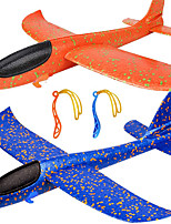 cheap -2 Pack Airplane Toys Upgrade 17.5 Inch Large Throwing Foam Plane 2 Flight Mode Glider Plane Flying Toy for Kids Gifts for 3 4 5 6 7 Year Old Boy Outdoor Sport Toys Birthday Gifts Party Favors