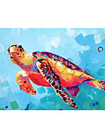 cheap -IARTS Hand Painted sea turtle Oil Painting with Stretched Frame For Home Decoration