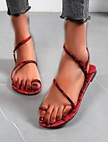 cheap -Women's Sandals Boho Bohemia Beach Flat Heel Round Toe Rubber Snake Yellow Red Blue