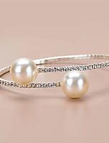 cheap -Women's Cuff Bracelet Bracelet Tennis Chain Wedding Simple Elegant European Rhinestone Bracelet Jewelry Silver For Wedding Anniversary Gift Formal Date