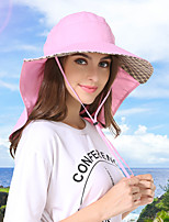 cheap -Women's Men's Fisherman Hat Hiking Cap 1 PCS Outdoor Portable Sunscreen Quick Dry Breathable Hat Solid Color Polyester Army Green Pink Grey for Fishing Climbing Beach