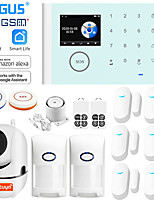 cheap -angus tuya 2.4 inch 433mhz wifi gsm home security alarm system compatible with alexa wireless burglar alarm app control detector