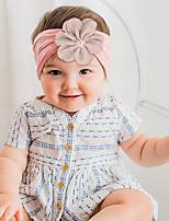 cheap -european and american children's nylon headband chiffon flowers baby hair accessories cute princess headdress super soft wide-brimmed headband