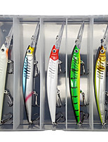 cheap -5 pcs Lure kit Fishing Lures Minnow lifelike 3D Eyes Floating Bass Trout Pike Sea Fishing Lure Fishing Freshwater and Saltwater