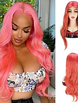 cheap -Synthetic Hair Wig Pink Body Wave Wigs Party Cosplay Wigs For Women