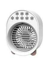 cheap -3—Speed Soft Light Ccolorful Night Light Mini Fan Desktop Water Spray Air Cooler  Low Noisy Mute Mini Fan