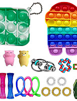 cheap -21 pcs Sensory Fidget Toys Set Pop Bubble Soybean Squeeze Stress Relief Balls with Fidget Hand Toys for Kids Adults Calming Toys for ADHD Autism Anxiety Relief