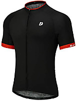 cheap -ptsoc men's basic cycling jerseys tops bike shirt with 3 rear pockets black small