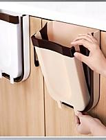 cheap -Folding Trash Can For Kitchen And Car Wall Mounted Waste Bin Kitchen Cabinet Door Hanging Trash Bin