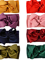 cheap -creative new satin ribbon bow knot nylon wide hairband european and american baby cute headband foreign trade cross-border children's hair accessories