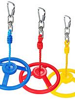 cheap -3-Pack Ninja Wheel Obstacle for Kids - Swing Monkey Wheel for Ninja Warrior Obstacle Course for Kids Ninja Slackline Kits - Blue, Red&Yellow Color in Set