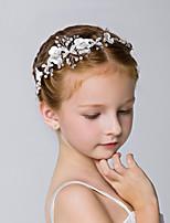 cheap -1pcs Kids / Toddler Girls' New Children's Hair Accessories Girl Headdress Princess Headband Korean Girl Head Flower Birthday Performance Accessories White