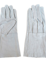 cheap -unlined lengthen split cow leather working gloves welding for heavy duty truck driving warehouse gardening farm grey