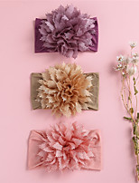 cheap -1pcs Toddler / Infant Girls' Active / Sweet Daily Wear Floral / Solid Colored Floral Style Nylon Hair Accessories Purple / Blushing Pink / Light Brown One-Size