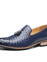 cheap -Men's Oxfords Daily Office & Career Walking Shoes PU Waterproof Wear Proof Black Grey Dark Brown Blue Fall Spring