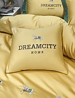 cheap -Pillow 60S Long-staple Cotton Satin Embroidery Light Luxury Pillow Include Pillow Core Living Room Bedroom Sofa Cushion Cover