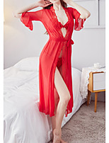 cheap -Women's Mesh Suits Nightwear Solid Colored Black / Red One-Size
