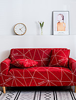 cheap -Sofa Cover Seat Printed Simple Style Sectional Stretch Slipcovers Elastic Stretch Sofa Cover For Living Room Couch Cover Armchair Cover Color Red