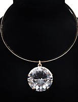 cheap -Women's AAA Cubic Zirconia Choker Necklace Statement Alloy Gold Silver 41 cm Necklace Jewelry 1pc For