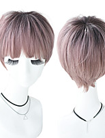 cheap -Synthetic Wig Natural Straight Neat Bang Wig Short A1 A2 A3 A4 A5 Synthetic Hair Women's Cosplay Party Fashion Pink