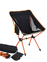 cheap -Camping Chair with Side Pocket Portable Ultra Light (UL) Foldable Washable Aluminum Alloy Oxford for 1 person Fishing Camping Camping / Hiking / Caving Outdoor Autumn / Fall Spring Black / Orange